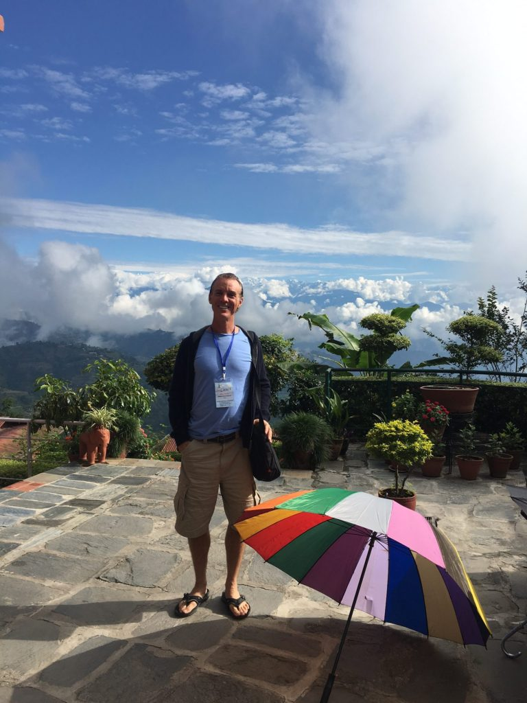 Klee Irwin attending the 13th international conference on quasicrystals in Katmandu, Nepal