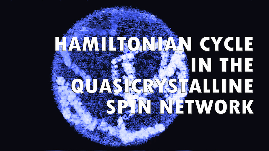 Hamiltonian Cycle in the Quasicrystalline Spin Network