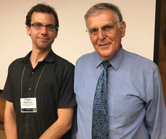 QGR scientist Dugan Hammock and Nobel Laureate Dan Shechtman