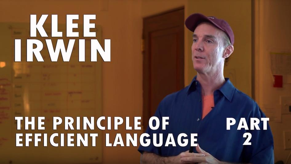The Principle of Efficient Language