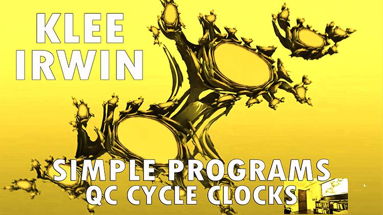 Simple Programs – QC Cycle Clocks